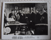 Goodbye Mr Chips, MGM FOH Still, Robert Donat, Greer Garson, '39 b